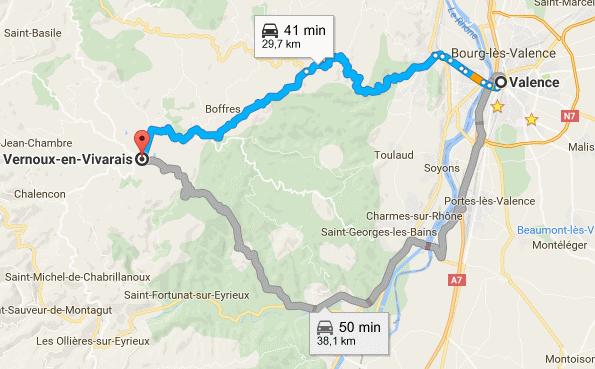 Itinéraire pour venir à Vernoux par Valence ou par St Laurent du Pape.png